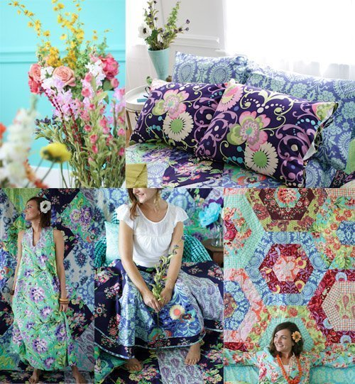 """Stoffkollektion """"Love"""" der amerikanischen Textildesignerin Amy Butler, gesehen bei CUT."""