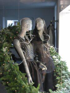 Auch Schaufensterfiguren möchten ein bisschen Weihnachten