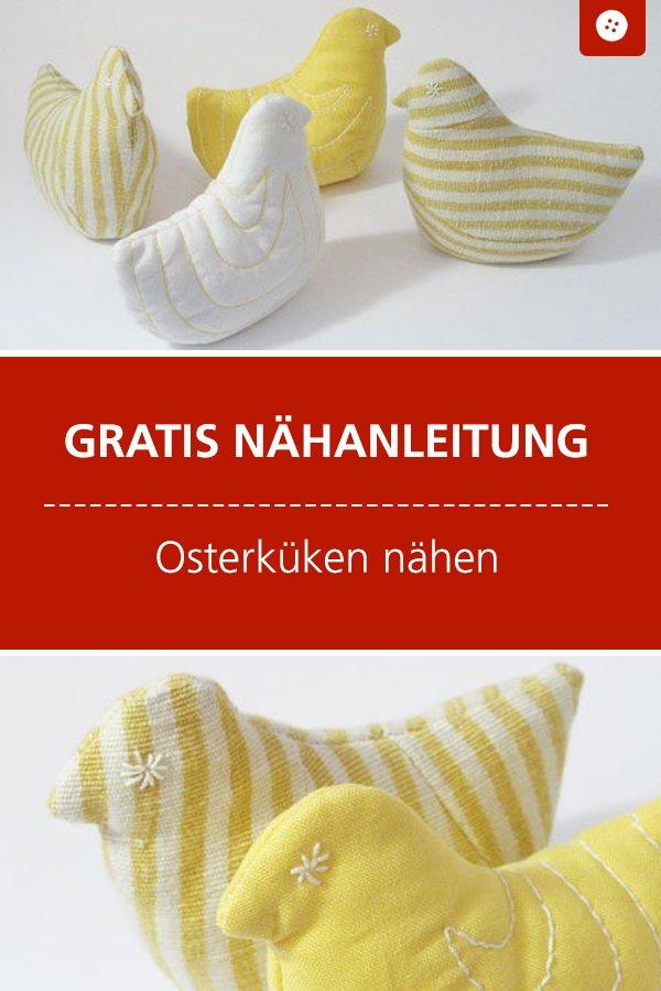 Kostenlose Nähanleitung mit Schnittmuster: Osterküken #nähen #nähanleitung #nähenmachtglücklich #ostern #bernina #diy #tutorial #freebie #freebook #kostenlos