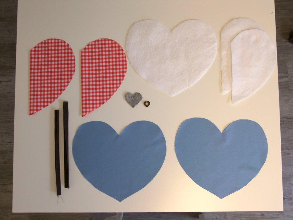 Zuschnitte Herz-Topflappen