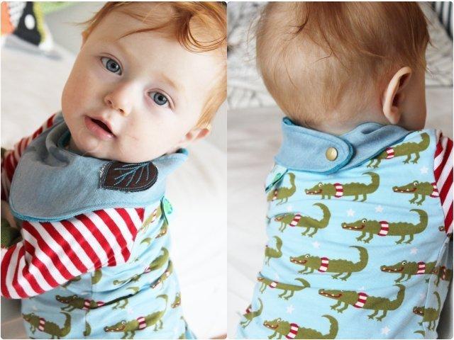 Anleitung und Schnittmuster Babyhalstuch