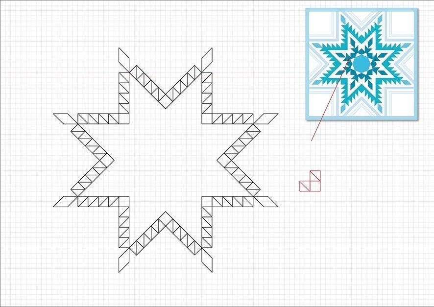 Konstruktion Feathered Star Bernina Blog