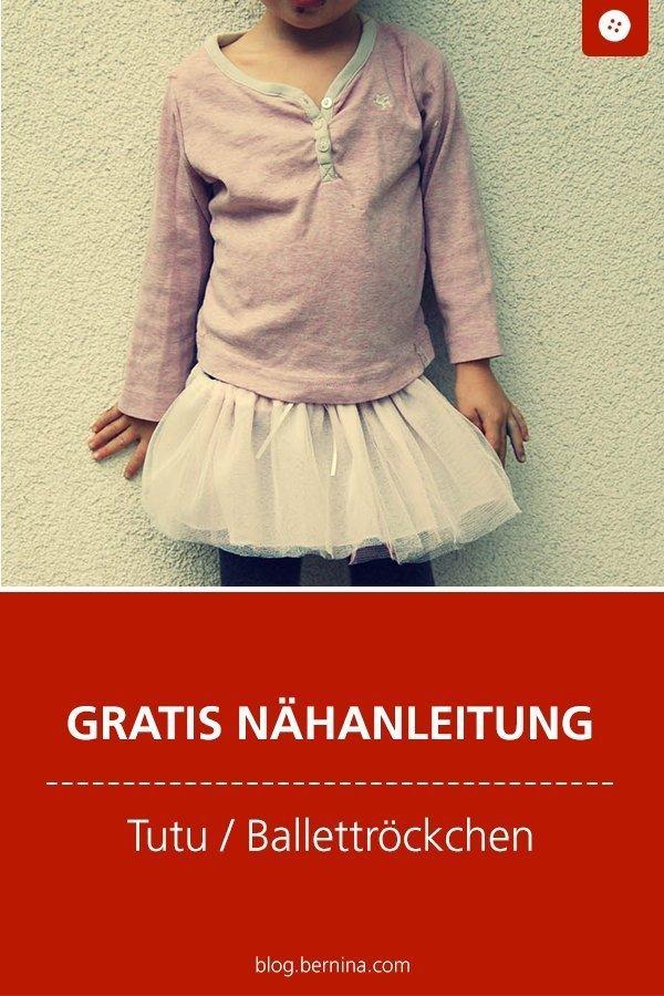 Kostenlose Nähanleitung für ein Tutu / Ballettröckchen #schnittmuster #nähen #rock #kinder #tutu #ballettrock #kleidung  #bernina #nähanleitung #diy #tutorial #freebie #freebook #kostenlos
