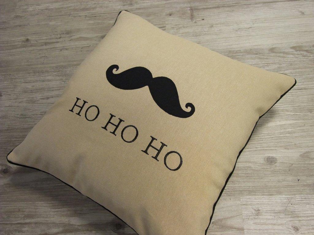 Weihnachtskissen Moustache
