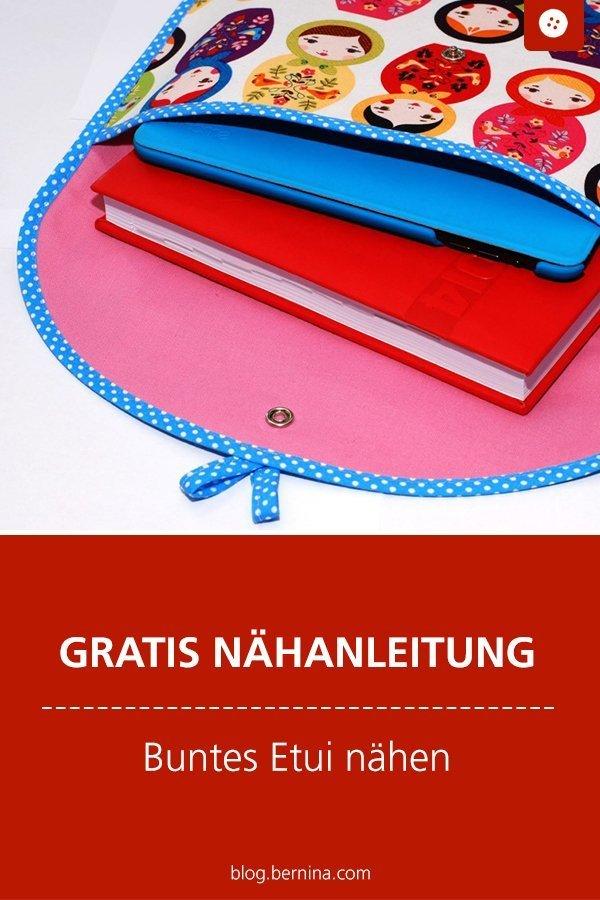 Kostenlose Nähanleitung: Etui / Täschchen #nähen #nähanleitung #nähenmachtglücklich #taschenähen #bernina #diy #tutorial #freebie #freebook #kostenlos
