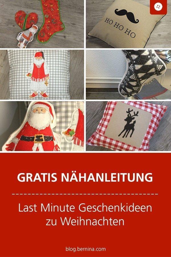 Gratis Nähanleitung: Last Minute Geschenke zu Weihnachten: Kissen, Stiefel, Deko #weihnachten #geschenk #xmas #nähen #bernina #nähanleitung #diy #tutorial #kissen #freebie