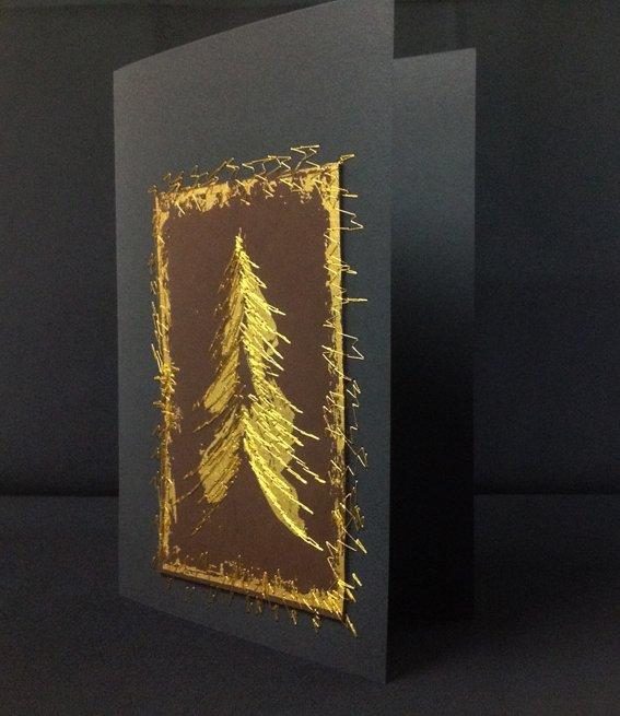 Bedruckte Weihnachtskarten.Die Ratzfatz Weihnachtskarte Bernina Blog
