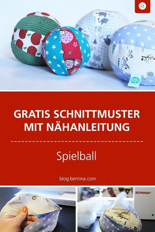 Kostenloses Schnittmuster mit Nähanleitung für einen Spielball #schnittmuster #nähen #ball #spielzeug #baby #kind #kinderzimmer #spielen #geburt #bernina #nähanleitung #diy #tutorial #freebie #freebook #kostenlos
