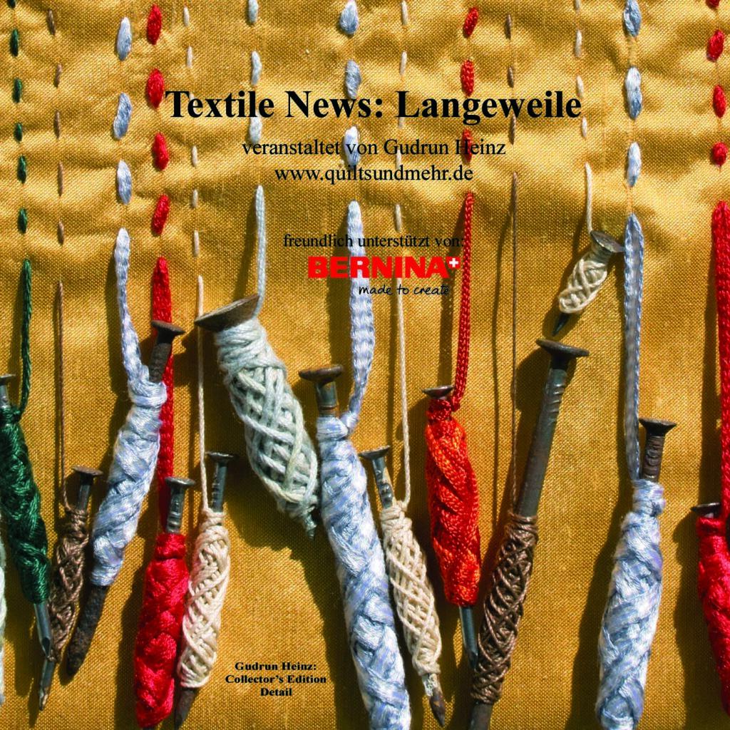 """Gudrun Heinz: """"Collector's Edition"""", Detail, aus der Ausstellung """"Textile News: Langeweile. Boredom. Ennui."""""""