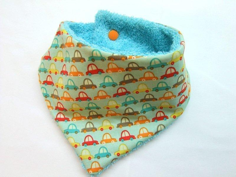 Nähanleitung und Schnittmuster Baby-Halstuch