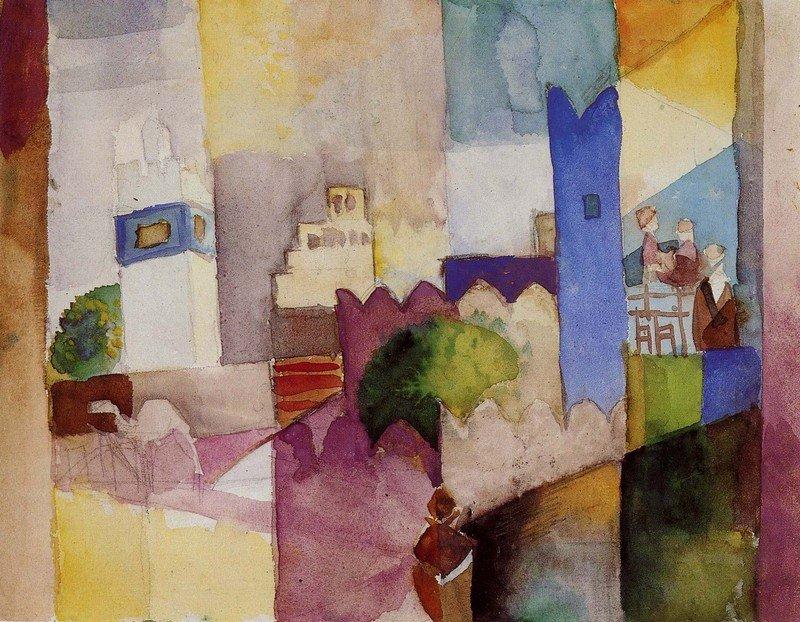 August Macke (1887 - 1914) Kairouan III, 1914 Aquarell über Bleistift auf Zeichenpapier 22,5 x 28,9 cm Westfälisches Landesmuseum für Kunst und Kulturgeschichte, Münster Foto: LWL-MKuK/Sabine Ahlbrand-Dornseif