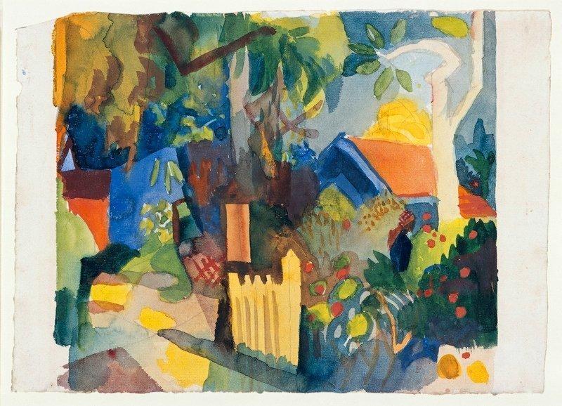August Macke (1887 - 1914) Landschaft mit hellem Baum, 1914 Aquarell über Bleistift 22,2 x 30,9 cm Staatliche Museen zu Berlin, Kupferstichkabinett Foto: bpk, Jörg P. Anders