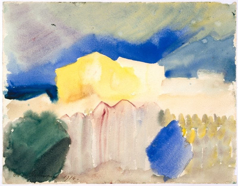 Louis Moilliet (1880 - 1962) St. Germain bei Tunis, 1914 Aquarell auf Papier 20,7 x 26,6 cm Zentrum Paul Klee, Bern Copyright 2013 by ProLitteris, Zürich