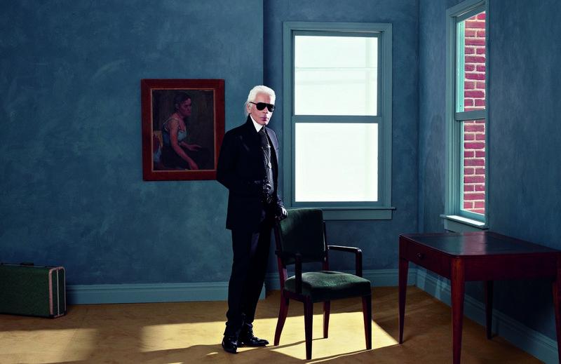 Karl Lagerfeld Selbstportrait, 2011 Aus der Serie Suite 3 Atelier Fendi Inkjet auf Leinwand 84 × 120 cm © 2014 Karl Lagerfeld