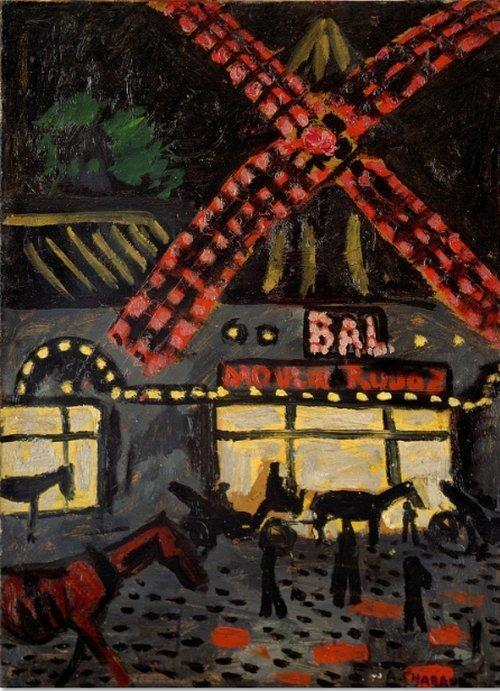 Auguste Chabaud Moulin Rouge la nuit, 1907 Öl auf Leinwand, 82 x 60 cm. © Association des amis du Petit Palais Genève