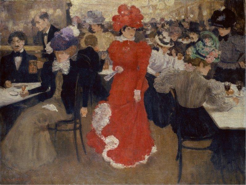 Henri Evenepoel Le Café d'Harcourt à Paris, 1897 Öl auf Leinwand, 114 x 148 cm. Städel Museum, Frankfurt am Main. © U. Edelmann – Städel Museum - ARTOTHEK