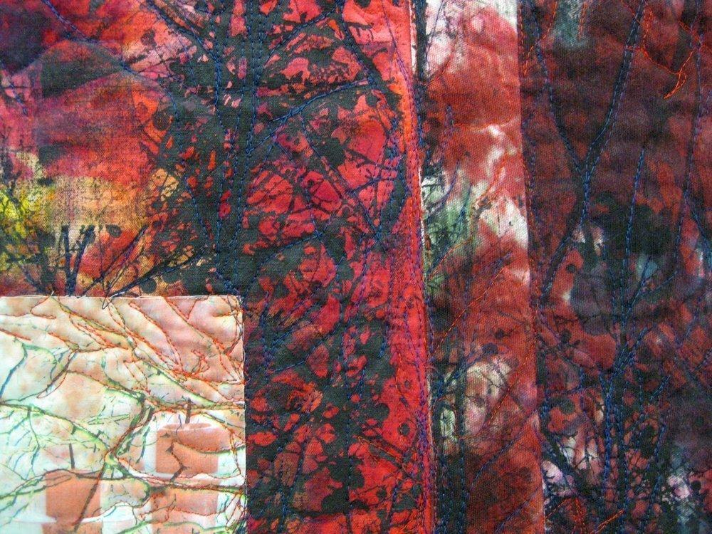 Britta Ankenbauer (D): Roter Wald, Detail