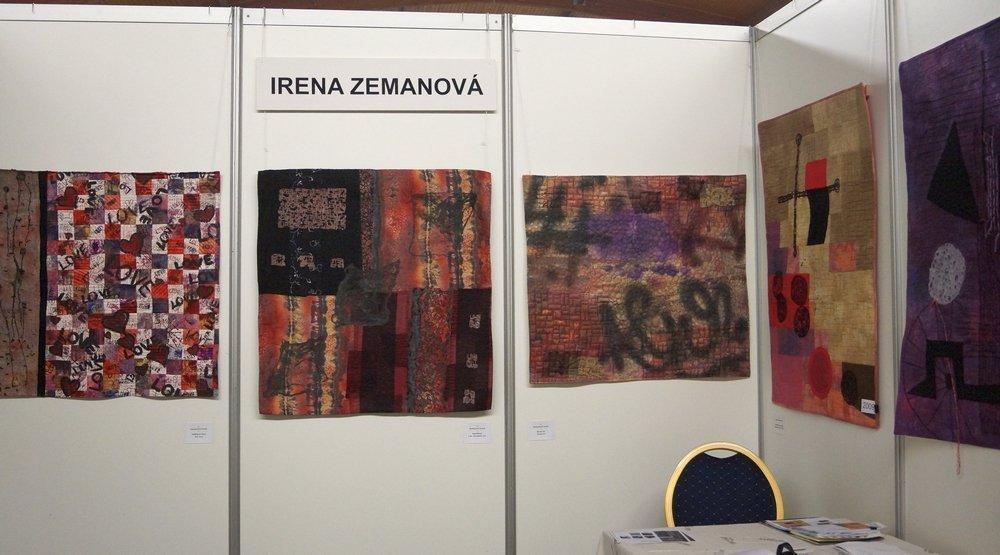 Blick in die Ausstellung von Irena Zemanova (CZ)