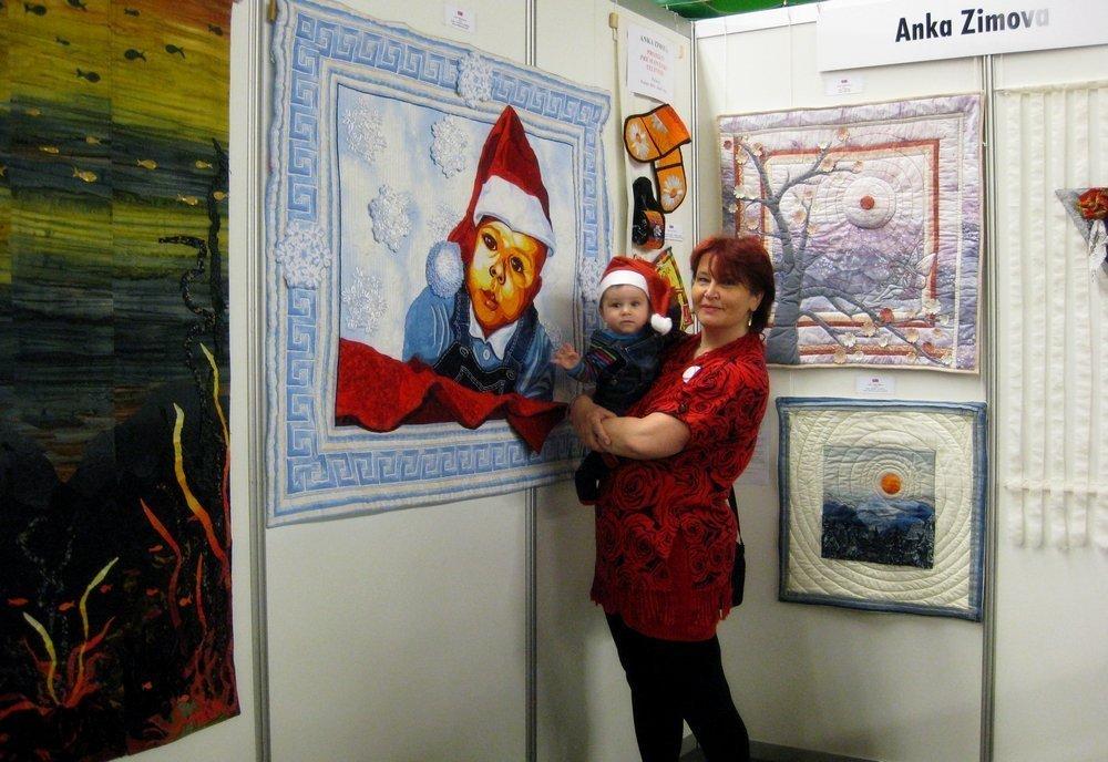 Anka Zimova (SK) mit dem jüngsten Familienmitglied