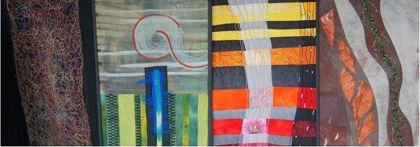 Quilts von Saskia Hetzel, Evi Maria Kirchmair-Krismer, Karin Schuler, Waltraut Mayer (v.l.n.r.)
