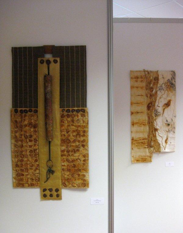 Wima Vogt: In der Erde, aus der Erde (li) Ilse Thater: Altes Eisen (re) Jahresprojekt Rost