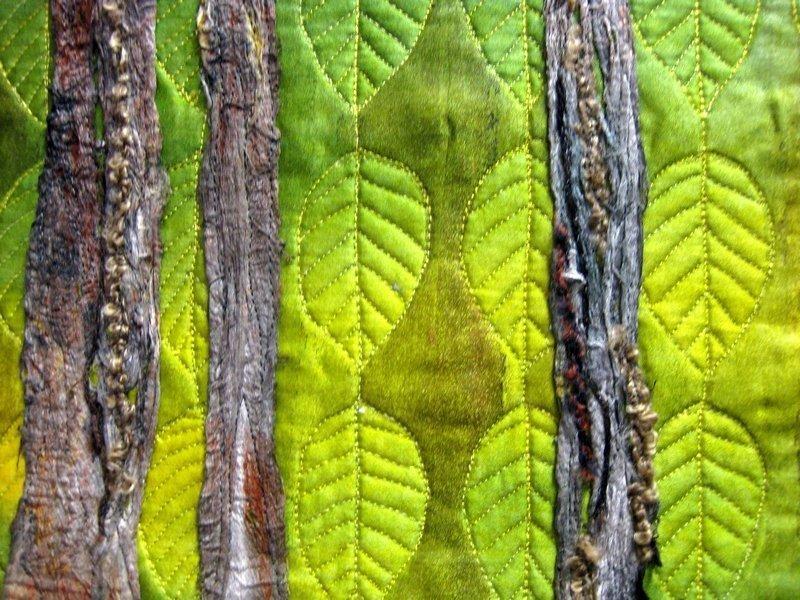 Maria Kreiss: Blätterregen, Detail