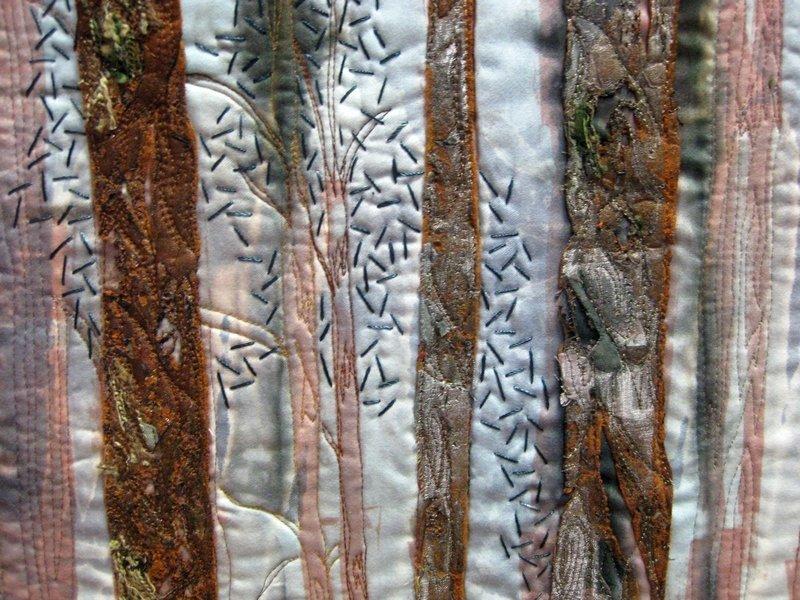 Maria Kreiss: Winterwald, Detail