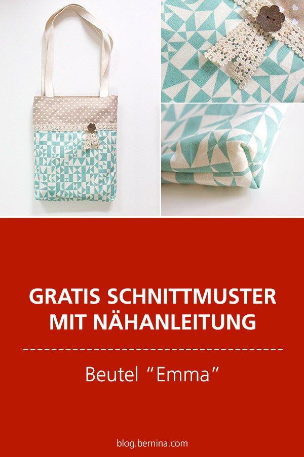 "Gratis-Schnittmuster & Nähanleitung: Beutel ""Emma"""