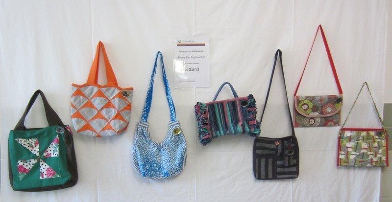 Taschen von Teilnehmern aus Lettland