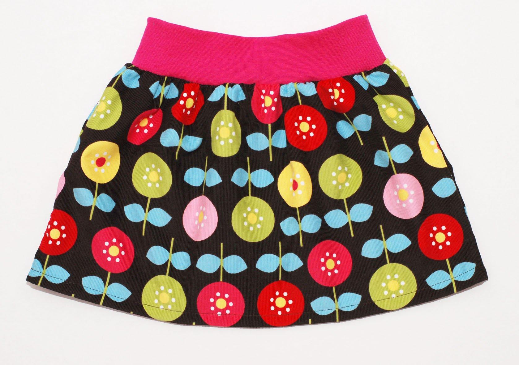 Nähanleitung Mädchenrock mit Sommerblumen