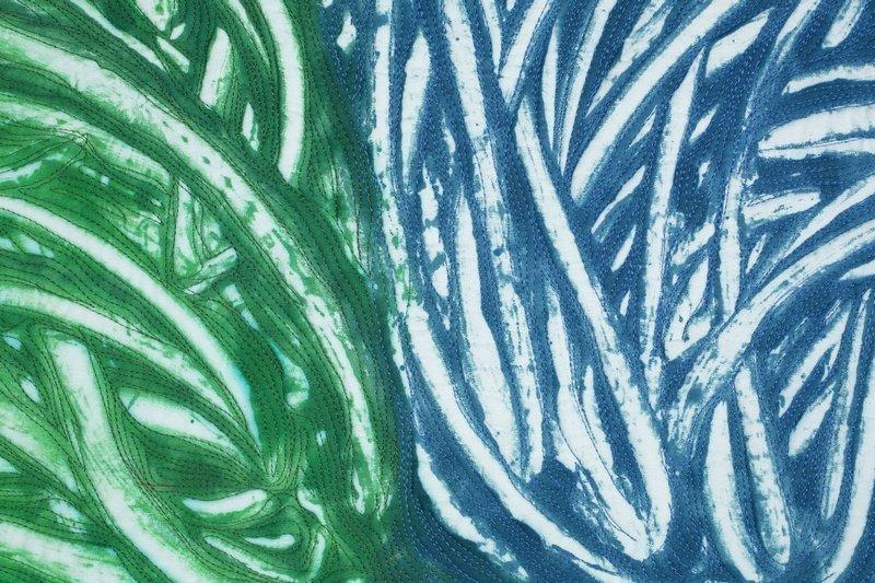 Nancy Crow: Mono-Print 17c 17d, Detail Foto: J. Kevin-Fitzsimons