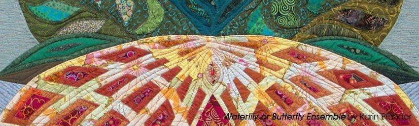 Karin Pfunder: Waterlily, Detail Foto: National Quilt Museum