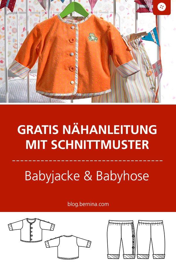 Nähanleitung Baby Jacke und Hose mit Gratis Schnittmuster
