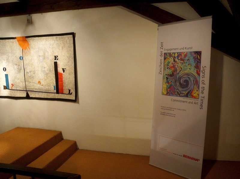 Vernissage der Ausstellungen 'Zeichen der Zeit' und 'Nancy Crow: Mono-prints' Foto: Dr. Wolfgang Heinz