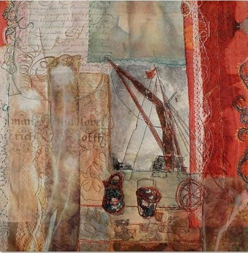 Cas Holmes: Red Barge Sails Foto: Cas Holmes