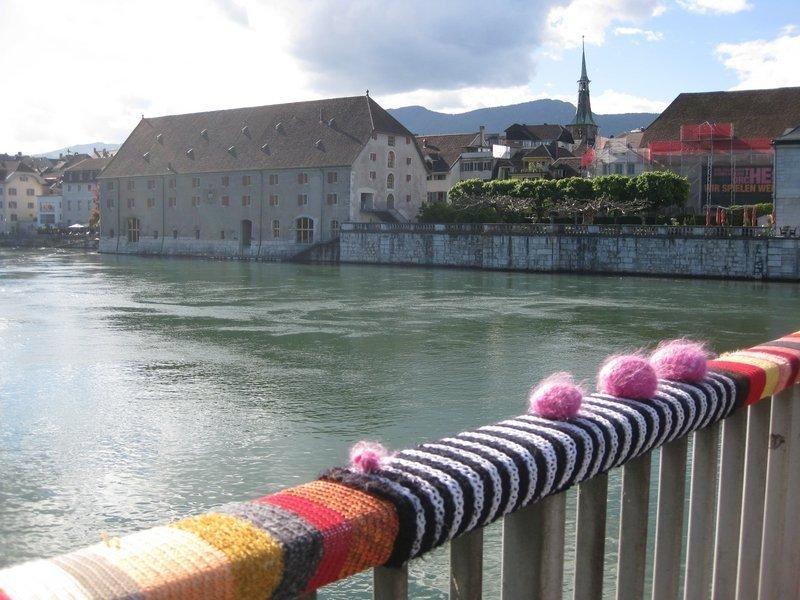 Blick über die Aare auf das Landhaus in Solothurn (CH)