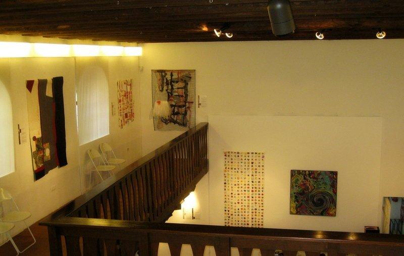 'Zeichen der Zeit' in der Textilsammlung Max Berk, Heidelberg-Ziegelhausen Foto: Gudrun Heinz