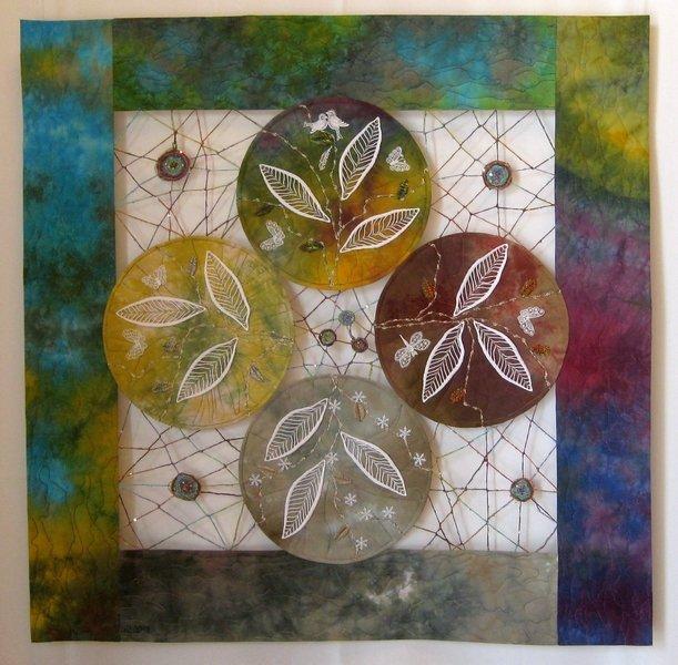 Helga Pfister (CH): Die vier Jahreszeiten, 85 x 85 cm