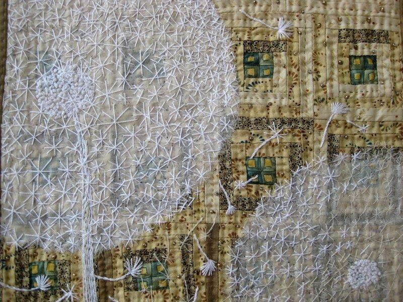 Mariana Szipl (H): Pity Pang Dandelion u.a. aus Stoffen von Gabrielle aus der Schweiz, Detail