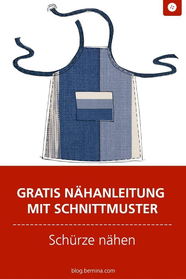 Kostenloses Schnittmuster mit Nähanleitung für eine Schürze #schnittmuster #nähen #schuerze #kueche #bernina #nähanleitung #diy #tutorial #freebie #freebook #kostenlos