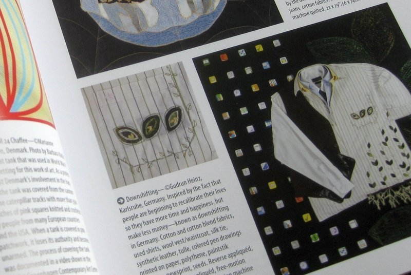 'The Ultimate Guide to Art Quilting'  - Blick auf 'Downshifting' von Gudrun Heinz Foto: Gudrun Heinz