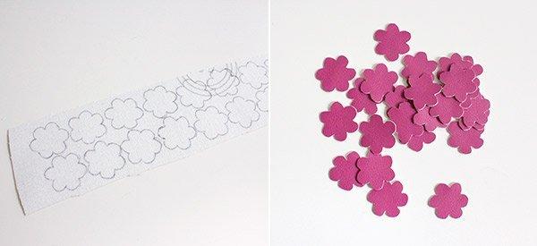Blumen ausschneiden