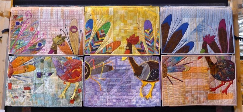 HQM: Bird Parade Wettbewerb Group Quilts