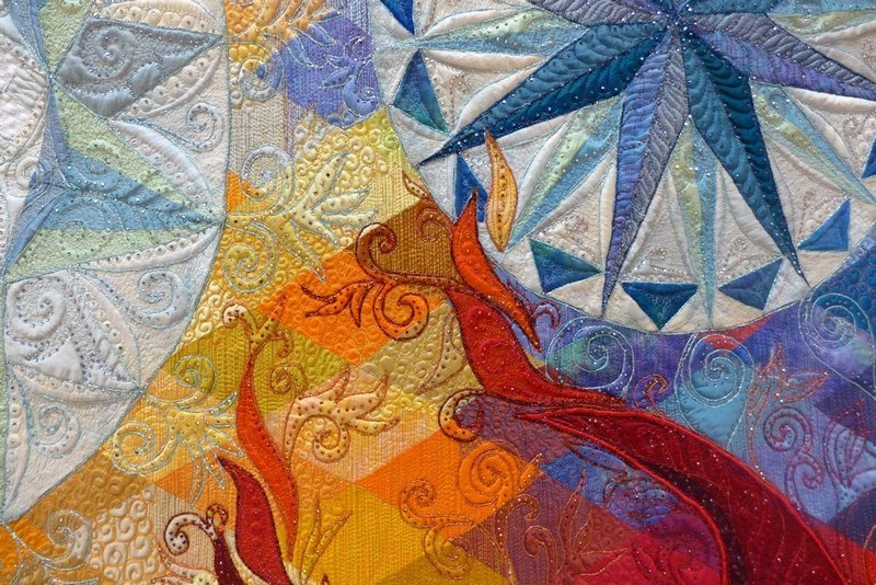Claudia Pfeil: 'Fire and Ice Kategarie 'Art Quilts'