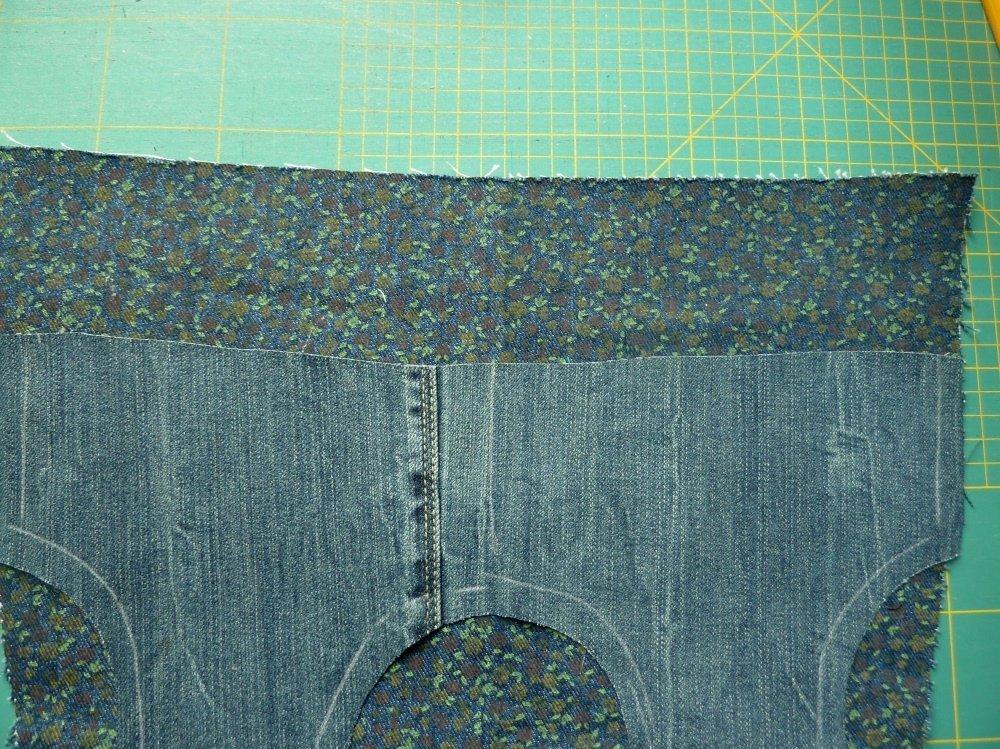Jeansrecycling: jap.Knotentasche