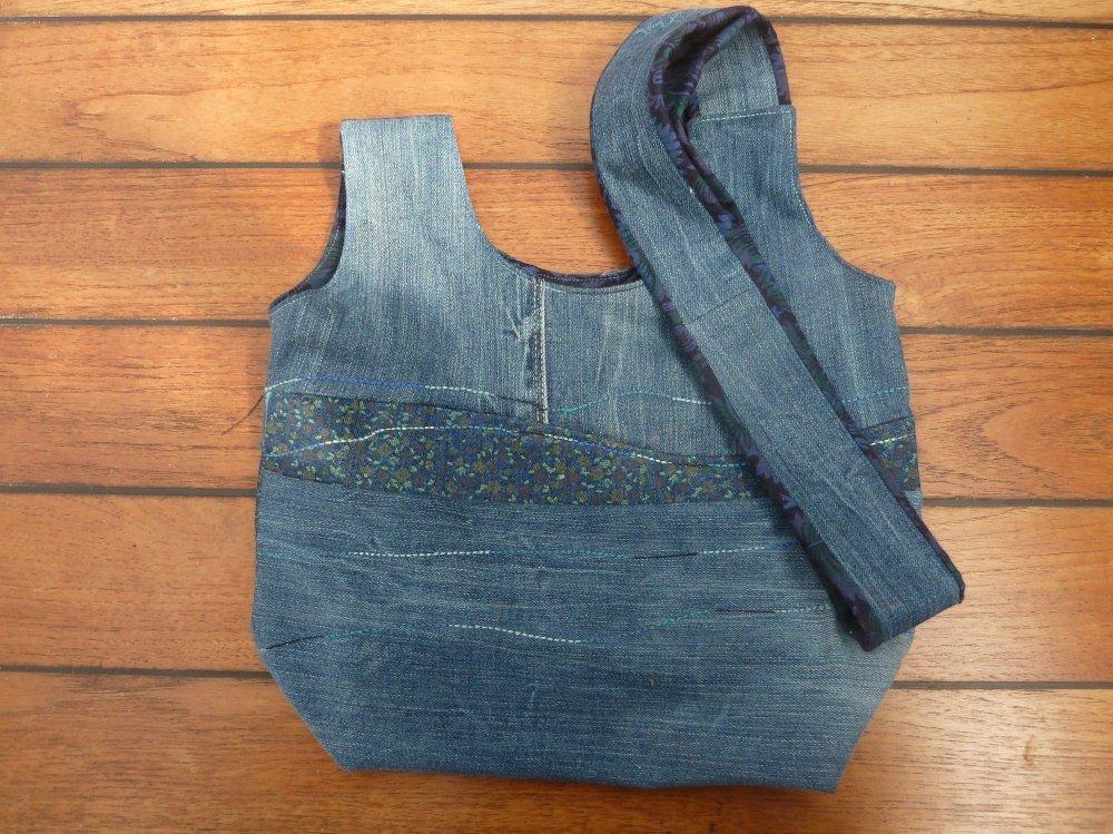 Jeansrecycling: jap. Knotentasche