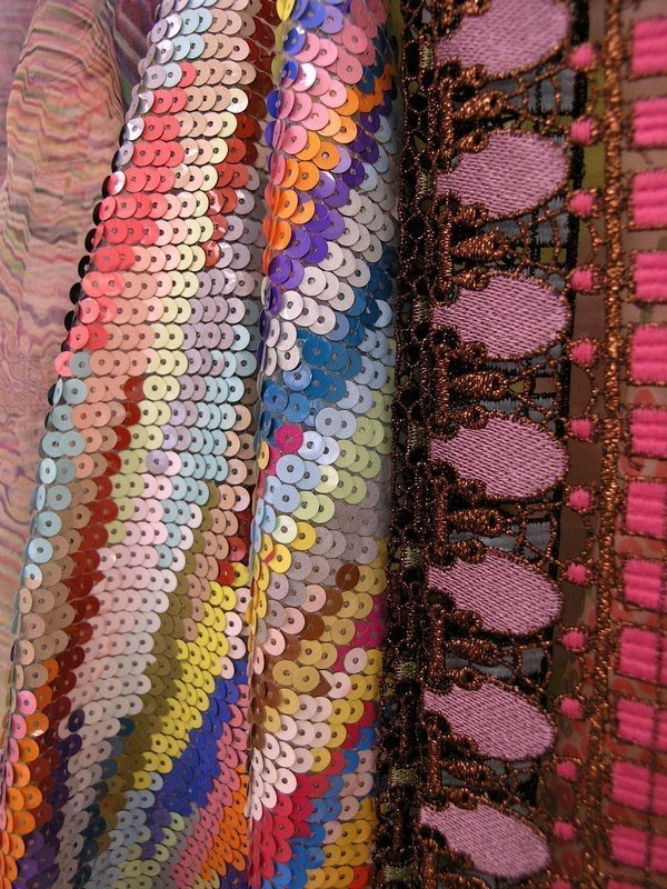 Paillette in Pastell. Neue Farben für einen Klassiker Foto: © Textilmuseum, St. Gallen