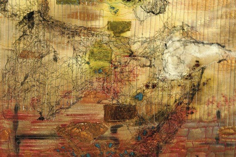 Ausstellung Zeichen der Zeit Jana Sterbova: Memories of an old wall, Detail Foto: Dr. Wolfgang Heinz