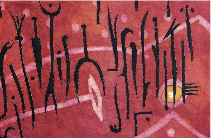 Ausstellung Zeichen der Zeit: Ursula Rauch: Das Herz der Finsternis, Detail Foto: Dr. Wolfgang Heinz
