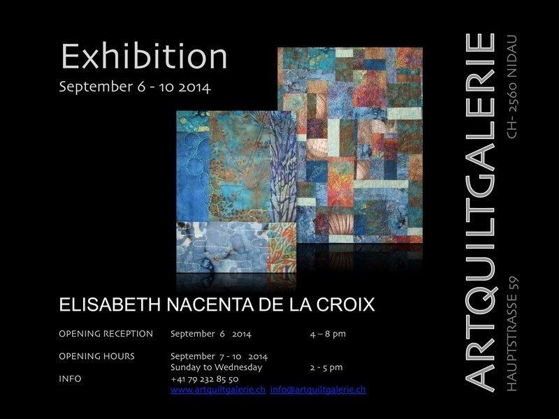 Einladung zur Ausstellung von Elisabeth Nacenta de la Croix